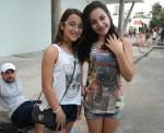 Ana Clara, de 10 anos, e Julia, de 12, estavam domingo no Parque Ibirapuera