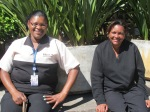 As auxiliares de limpeza Eliane (esq.) e Nilma