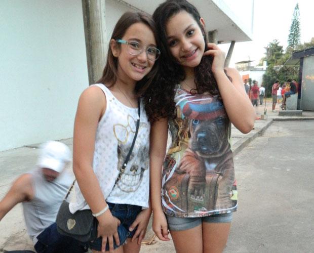 Ana Clara, de 10 anos, e Julia, de 12, estavam num domingo no Parque do Ibirapuera