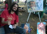 Diego Miranda fazia caricaturas no Parque do Ibirapuera