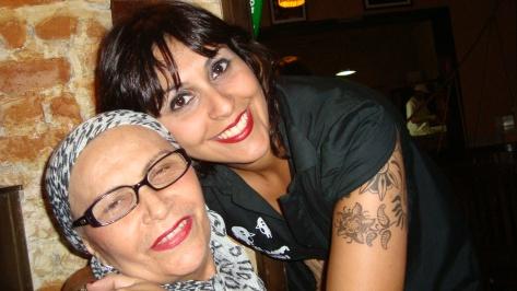 Giselli com sua mãe