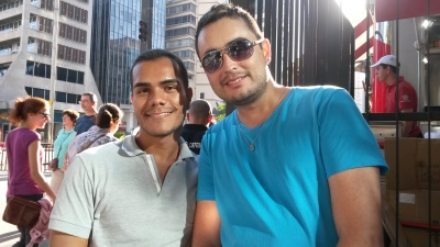 Rômulo (esquerda) e Fernando disseram que ainda sentem preconceito
