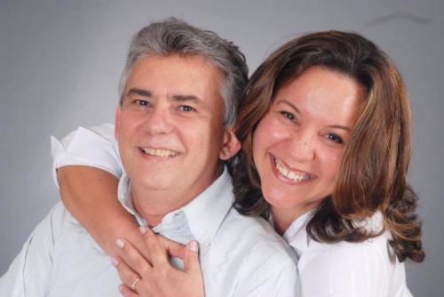 Alana com seu marido, Francisco Ribeiro Mendes