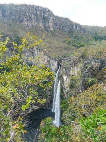 Cachoeira de 120 metros no Parque Nacional da Chapada dos Veadeiros