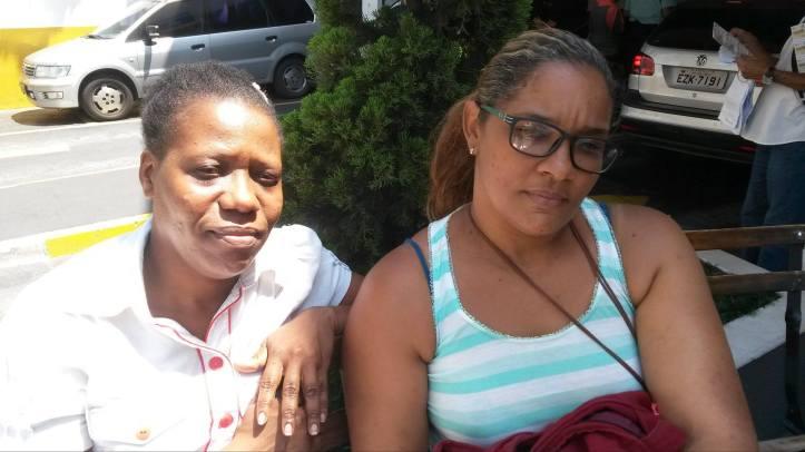 Myrtha (esq.) e Oendi afirmam que vida em São Paulo não está fácil